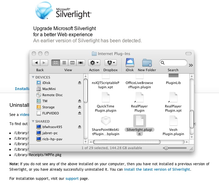 Silverlight Installation