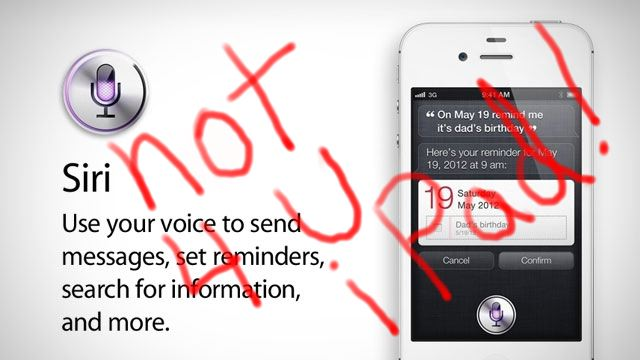 Siri - Not 4 U iPad!