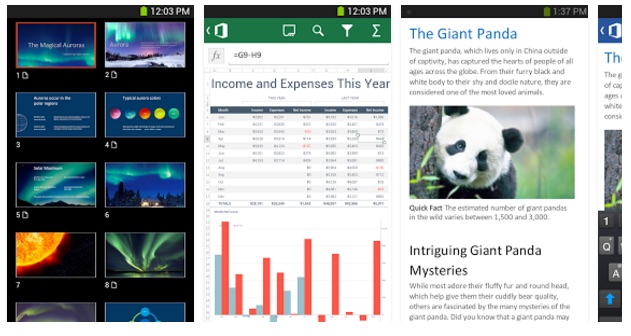 PowerPoint, Excel and Word are now on every major platform and device.