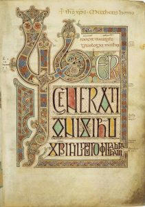 By Eadfrith of Lindisfarne (presumed) - http://www.bl.uk/catalogues/illuminatedmanuscripts/ILLUMIN.ASP?Size=mid&IllID=2222&MSID=6469, Public Domain, https://commons.wikimedia.org/w/index.php?curid=196226